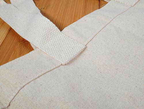 手持ち部分の縫製・コットンテープの柔らかい素材です