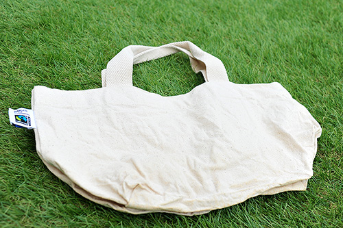 トートバッグを乾燥させた状態