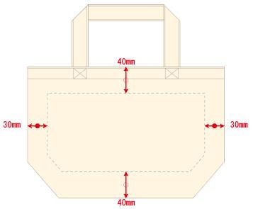 デザインスペース:W240×H120(mm) ■シルク印刷 最大範囲:W240×H120(mm)