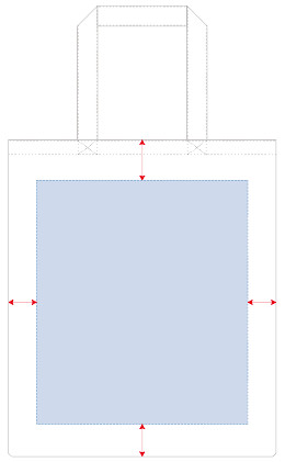 オリジナルプリント可能範囲図