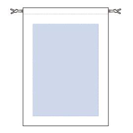 レイアウト可能範囲:W200×H280(mm) ■シルク印刷 最大範囲:W200×H280(mm)