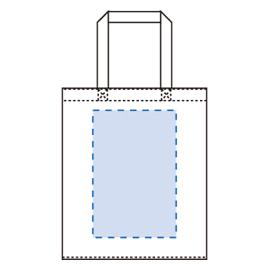 ライトキャンバスバッグ 横マチ付印刷範囲