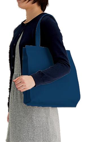 ライトキャンバスバッグ 横マチ付本体/約330×390(mm)・持ち手/約25×460(mm)・折りたたみマチ/約100(mm)