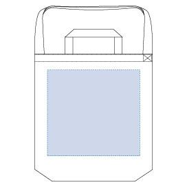 厚手キャンバスショルダートート(ハンドル)サコッシュ シルク印刷 最大範囲:W290×H270(mm)