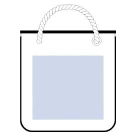 厚手キャンバスロープスクエアトート ナチュラル 印刷範囲 W250×H225(mm)