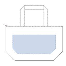 キャンバス保冷トート(S)  ナイトブラックデザインスペース:W250×H110(mm) ■シルク印刷 最大範囲:W250×H110(mm)