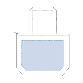 キャンバス保冷トート(M) ナイトブラックデザインスペース:W320×H230(mm) ■シルク印刷 最大範囲:W250×H230(mm)