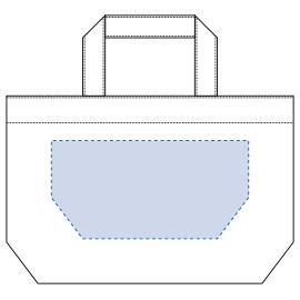 ※内ポケット有(内ポケットが付いている側は印刷できません)   デザインスペース: W220×H110(mm)   シルク印刷 最大範囲:W220×H110(mm)