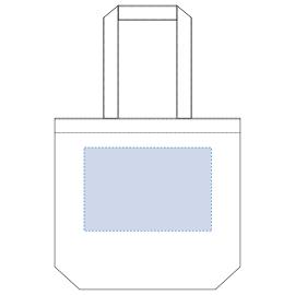 ※内ポケット有(内ポケットが付いている側は印刷できません)   デザインスペース:W260×H170(mm)   シルク印刷 最大範囲:W260×H170(mm)