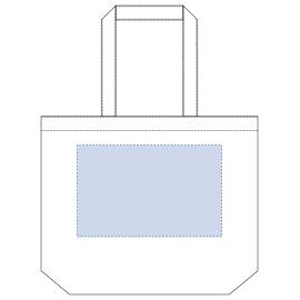 ※内ポケット有(内ポケットが付いている側は印刷不可) デザインスペース:W300×H190(mm) ■シルク印刷 最大範囲:W300×H190(mm)