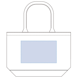 デザインスペース:W250×H155(mm) ■シルク印刷 最大範囲:W250×H155(mm)
