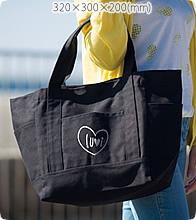 厚手キャンバスポケットマルチトート(M)ナイトブラックでオリジナルトートバッグを作る