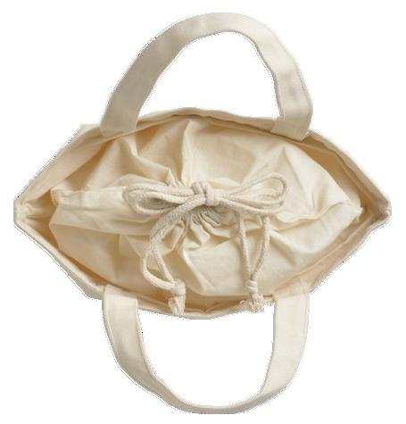 巾着の口元を縛れば中身をしっかり保護できます