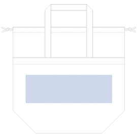 レイアウト可能範囲:W340×H110(mm) ■シルク印刷 最大範囲:W250×H110(mm)