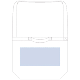 厚手キャンバス2WAYショルダートート レイアウト可能範囲:W300×H140(mm) シルク印刷 最大範囲:W250×H140(mm)
