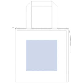 キャンバススクエア保冷トート(S)ナチュラル シルク印刷 最大範囲:W140×H140(mm)