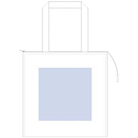 キャンバススクエア保冷トート(M)シルク印刷 最大範囲:W230×H230(mm)