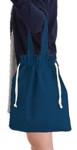 厚手コットンガゼット巾着トート(M)本体/約310×350×80(mm)・持ち手/約25×450(mm)
