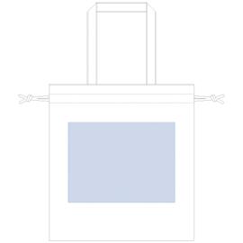 厚手コットンガゼット巾着トート(L) ナチュラル 印刷サイズW280×H210(mm)