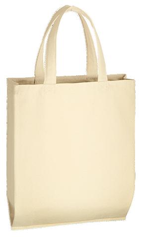 ライトキャンバスバッグ横マチ付(M) ナチュラル