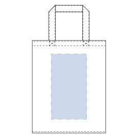 ライトキャンバスバッグ横マチ付(M)印刷可能範囲 W130×H240(mm)