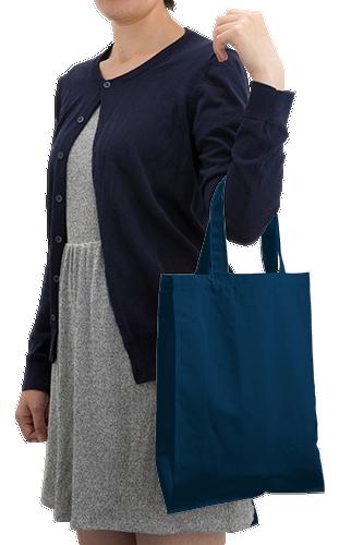 ライトキャンバスバッグ横マチ付(M)本体/約270×340(mm)・持ち手/約25×360(mm)・折りたたみマチ/約70(mm)