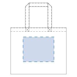 キャンバスカレッジトート(ML)ワイド ナチュラル 印刷 最大範囲:W200×H160(mm)