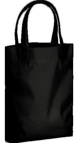 コットンガゼットマチ付バッグ(M) ブラック