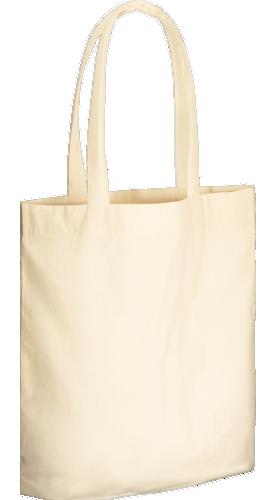 コットンガゼットマチ付バッグ(L) ナチュラルA3サイズが縦ぴったり
