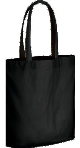コットンガゼットマチ付バッグ(L) ブラック 4oz柔らかブラック生地 コンパクトに折りたたみ可能