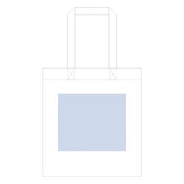 コットンガゼットマチ付バッグ(L) ブラックデザインスペース:W260×H220(mm) ■シルク印刷 最大範囲:W250×H220(mm)