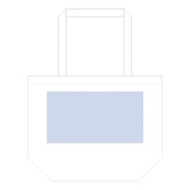 コットンファームトート ブラック デザインスペース:W300×H160(mm) ■シルク印刷 最大範囲:W250×H160(mm)