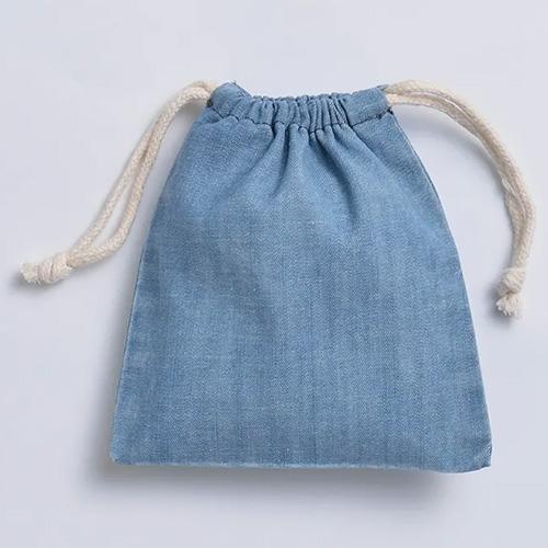 デニム巾着(S)041ヴィンテージブルー