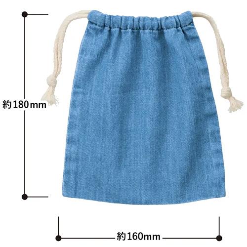 デニム巾着(S)のsize
