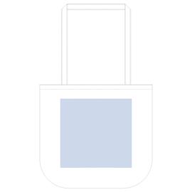 厚手コットンラウンドボトムバッグ(M) ナチュラル デザインスペース:W270×H250(mm) ■シルク印刷 最大範囲:W250×H250(mm)