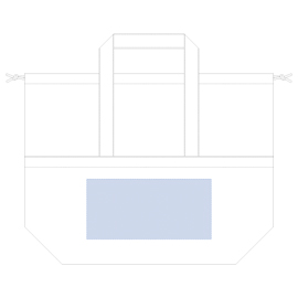 レイアウト可能範囲:キャンバスピクニック保冷トートW300×H145(mm) ■シルク印刷 最大範囲:W300×H135(mm)