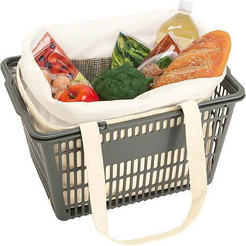 キャンバスピクニック保冷トート  レジカゴにも良いサイズで夏場のお買い物に助かります