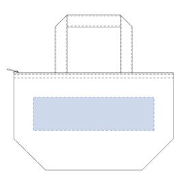 デニム保冷トート(S)チャック付き シルク印刷 最大範囲:W250×H110(mm)