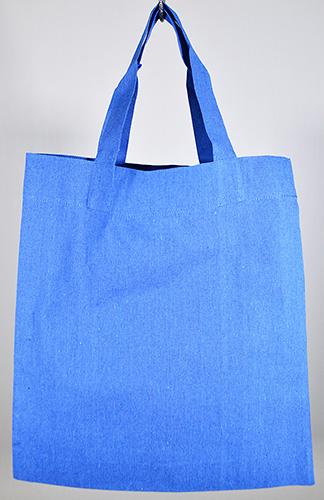 シャンブリックガゼットマチ付バッグ 001 ブルー