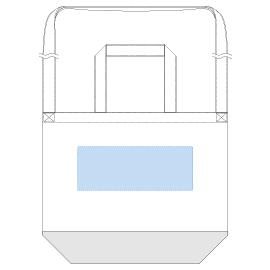キャンバスカラーボトムショルダートート印刷範囲 レイアウト可能範囲:W280×H105(mm) ■シルク印刷 最大範囲:W280×H105(mm)