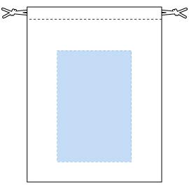 デザインスペース:W110×H165(mm) ■シルク印刷 最大範囲:W110×H165(mm)