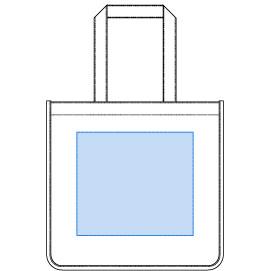 デザインスペース:W270×H240(mm) ■シルク印刷 最大範囲:W250×H240(mm)