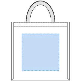 デザインスペース:W190×H190(mm) ■シルク印刷 最大範囲:W190×H190(mm)