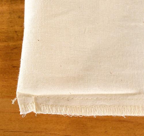 トート横部分の縫製