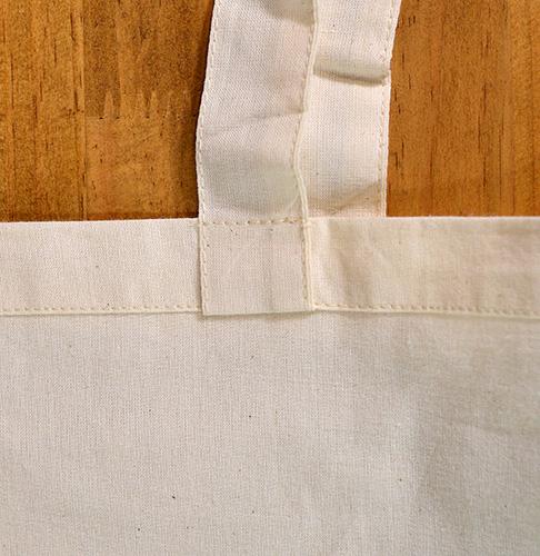 持ち手の根本は折返しのある縫い付け