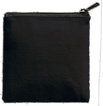 ライトキャンバスフラットポーチ(SS)009 ナイトブラック