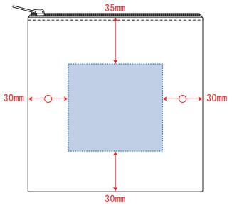 デザインスペース:W70×H65(mm) ■シルク印刷 最大範囲:W70×H65(mm)