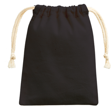 コットン巾着(SS)009 ブラック