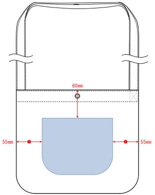 デザインスペース:W150×H120(mm) ■シルク印刷 最大範囲:W150×H120(mm)