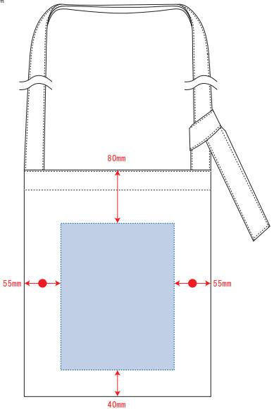 デザインスペース:W170×H220(mm) ■シルク印刷 最大範囲:W170×H220(mm)